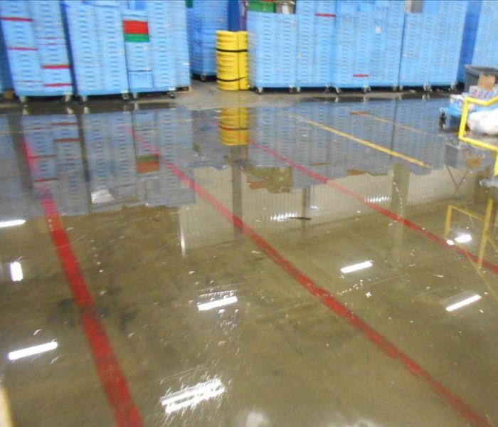 Warehouse Water Damage in Ft. Worth, Texas Before