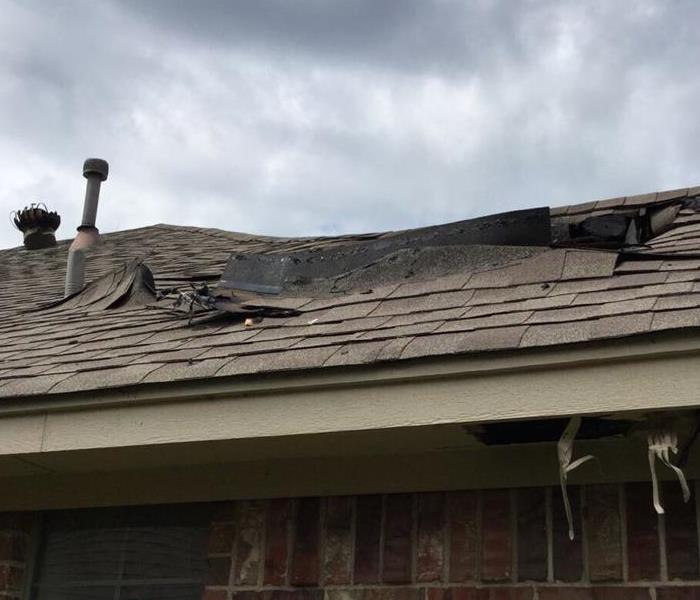Roof Damaged After Fire Before
