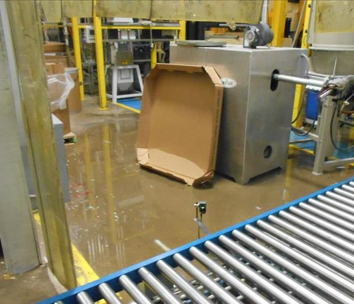Water Damage Affects Warehouse