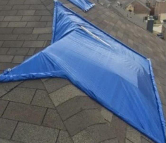 Roof Tarping After Storm Damage in Dallas, TX